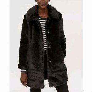 H&M Black Faux Fur Coat